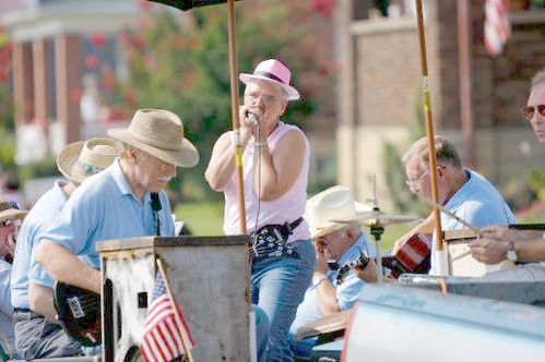 The Harmonica Club Payed the Cattletsburg Labor Day Parade
